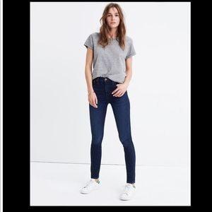 """Madewell▪️10"""" High-Rise Skinny Jeans in Hayes Wash"""